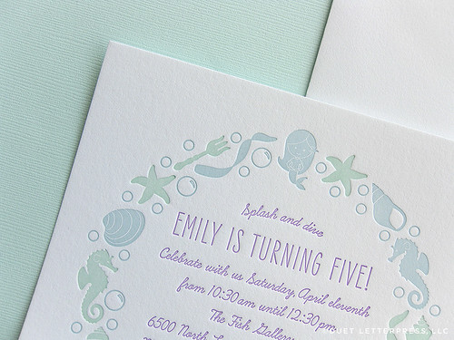 em's fifth birthday invitations