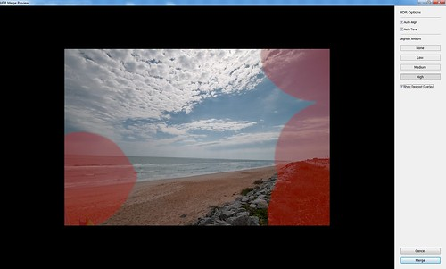 Screenshot of Lightroom's Merge to HDR dialog