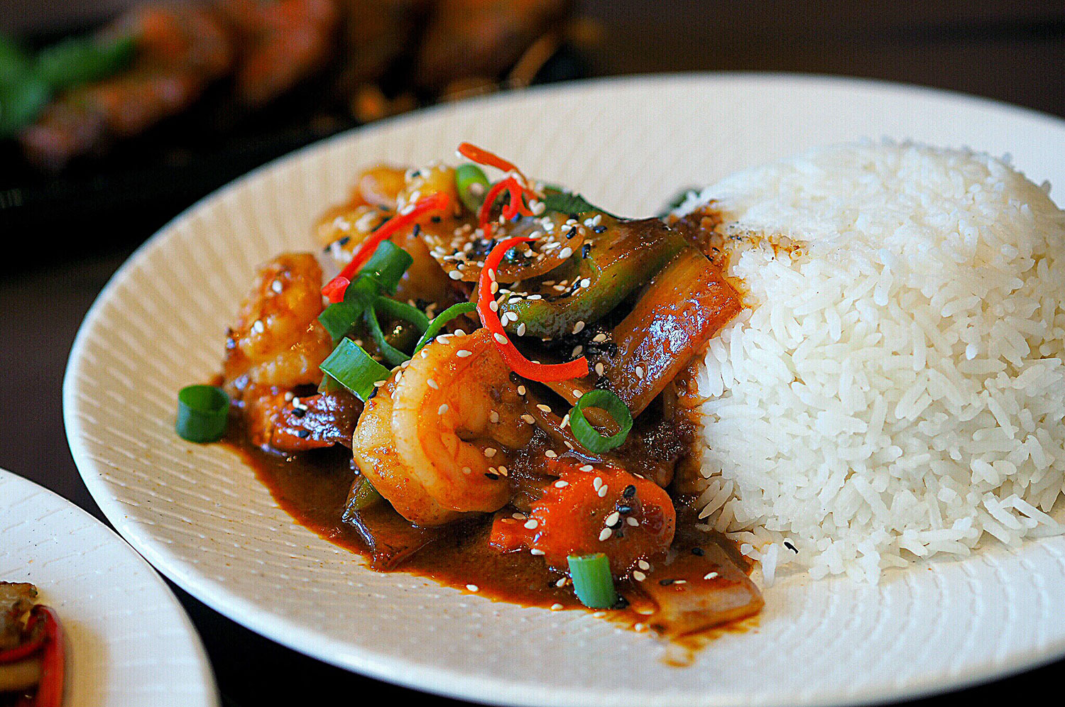 Sydney Food Blog Review of Wok On Inn, Zetland:Korean Prawn Stir Fry with Rice