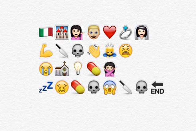 The story of Romeo and Juliet told in Emojis © ROH/Chris Shipman, 2015