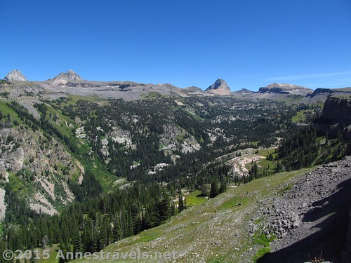 Part of the view from Alaska Basin Overlook, Jedediah Smith Wilderness Area, West Side of the Tetons, Wyoming