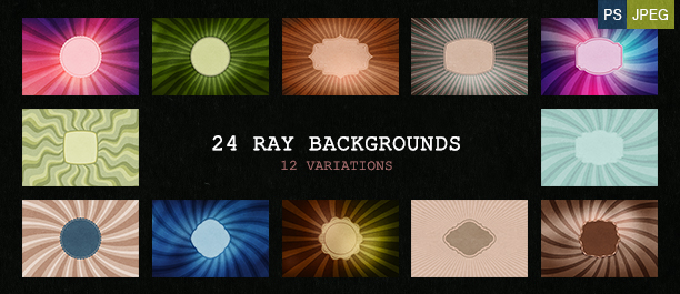 24 Sunburst Backgrounds - 04 Variations