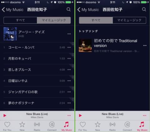 Apple Music 西田佐知子