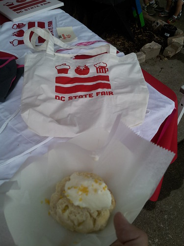 A Scone from the Sixes & Sevens Food Truck at the D.C. State Fair