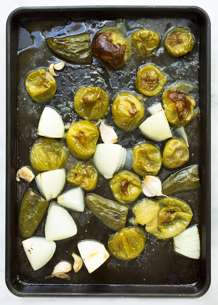 Roasted salsa verde, ready to blend