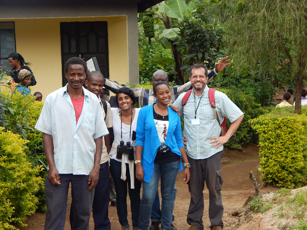 Associate Professor Stephan Schmidt, at right, and workshop attendees during the Data Collection Training Workshop in Tanzania.