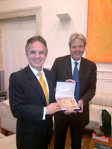 Encuentro del subsecretario Miguel Ruíz-Cabañas con el ministro de Asuntos Exteriores de Italia