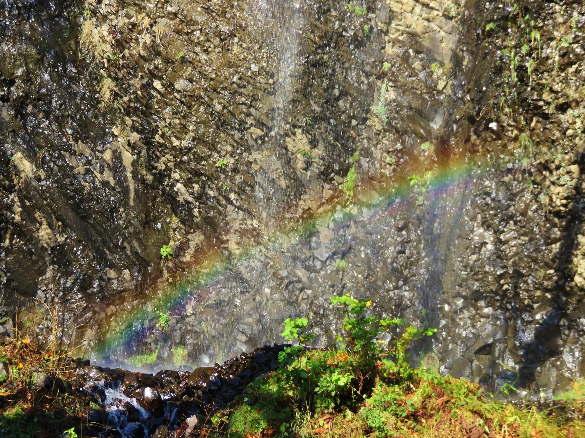 Rainbow beneath Cape Horn Falls