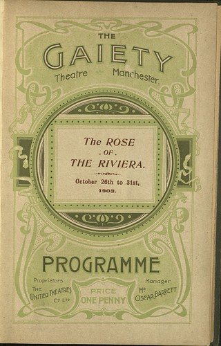 Gaiety Theatre Programme