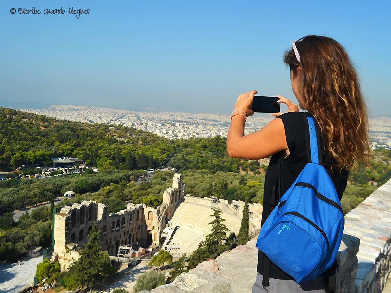 En una de mis visitas a la Acrópolis que hice a primera hora de la mañana