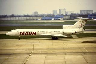 Tarom Tu-154 YR-TPI at LHR