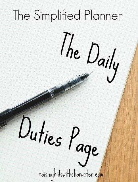 The Simplified Planner: The Daily Duties Page