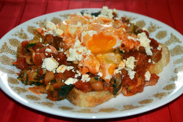 Egg poached in tomato sauce 1