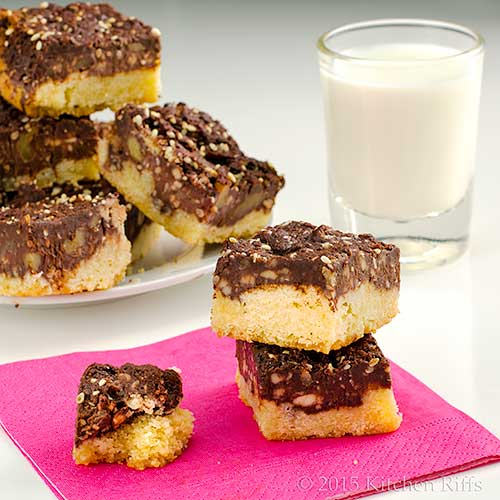 Chocolate Almond Sesame Bars