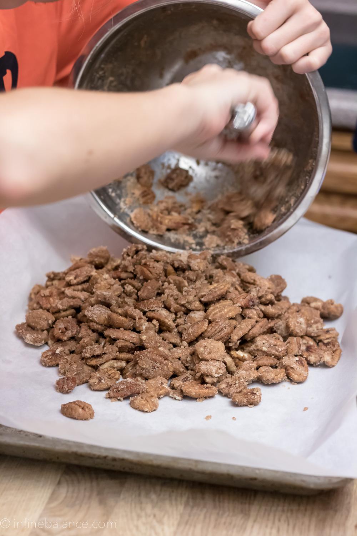 Sugared Pecans | www.infinebalance.com #recipe