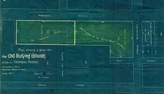 Plan des anciens sites funéraires situés dans le secteur actuel de l'entrée montréalaise vers le pont Jacques-Cartier. 1905. VM44-4-5_02. Archives de la Ville de Montréal.