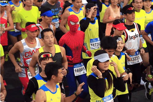 Spiderman in Taipei Marathon (1)