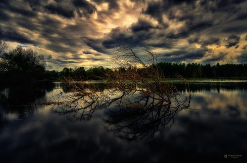 dark sky black lanscape clouds greece ellada