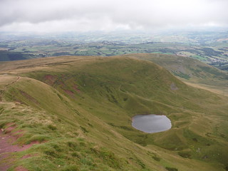 Llyn Cwm Llwch from Escarpment on way up to Corn Du