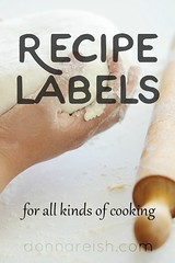 Recipe Labels for All Kinds of Cooking