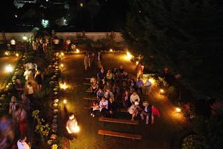 feierlicher Ausklang im Garten der Villa Zickzack