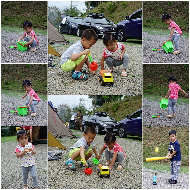 play at the camping site