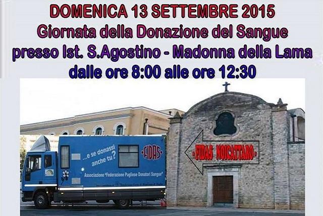 Noicattaro. Donazione Fidas Sett. 2015