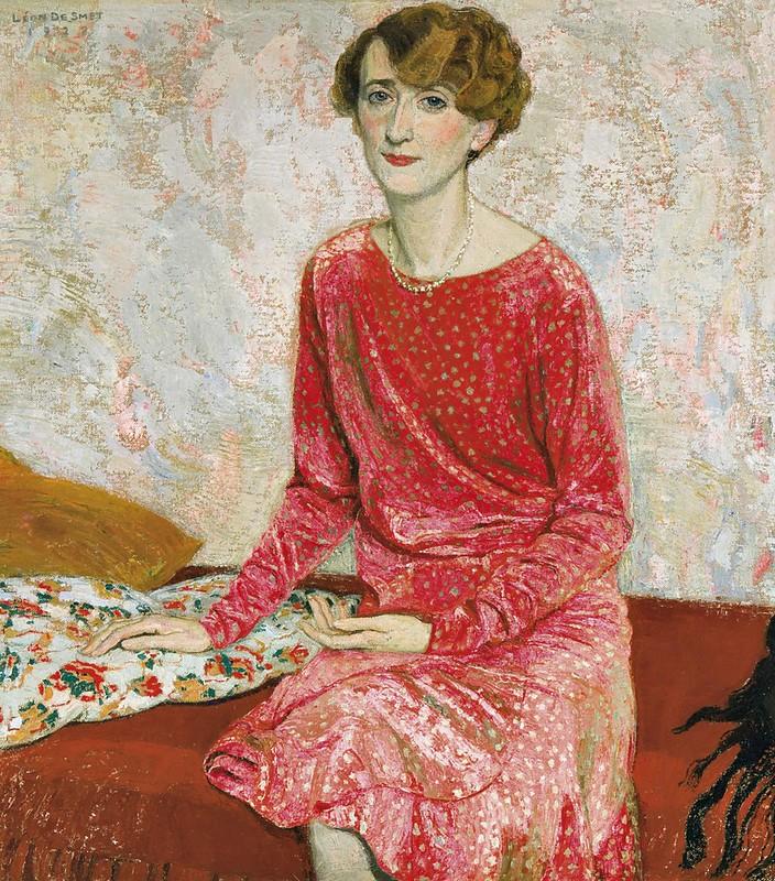 Léon De Smet - Portrait de la chanteuse Evelyne Brelia (1928)