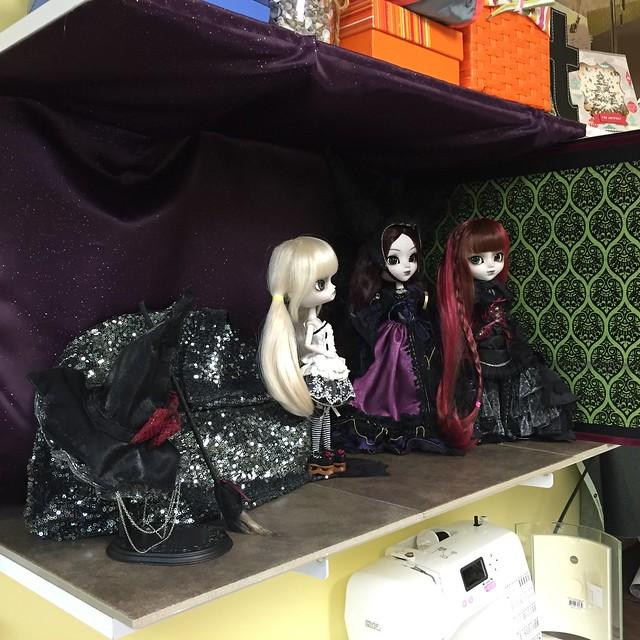 Witchy doll shelf