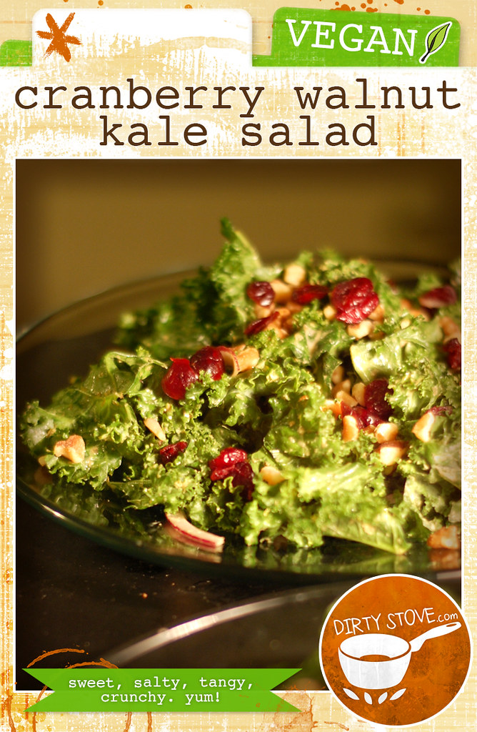 Cranberry Walnut Kale Salad by DirtyStove.com