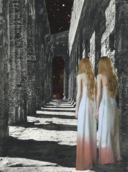 """""""Les Revenantes""""  Collage/ Paper Cut  21 x 30 cm  ©anitaa 2015"""