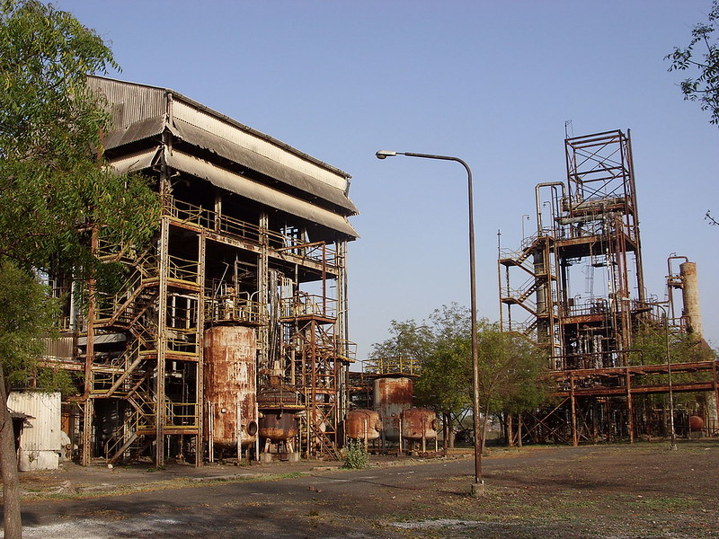 Deteriorating section of the MIC plant, decades after the gas leak