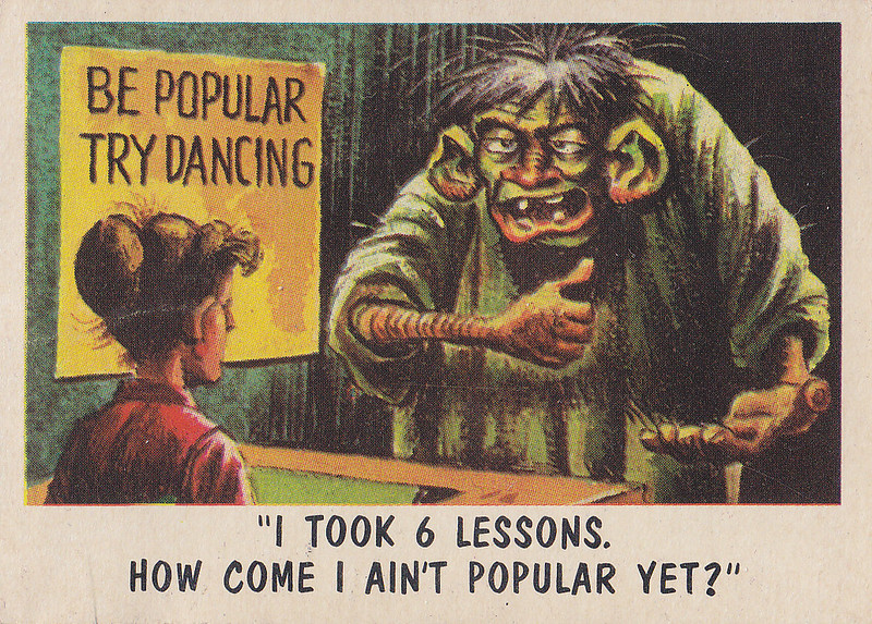 """""""You'll Die Laughing"""" Topps trading cards 1959,  illustrated by Jack Davis (44)"""