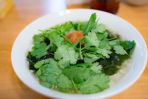 Coriander & Dried plum & Seaweed put SYOUNAN TANMEN
