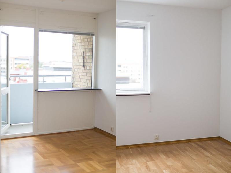 första bilderna på lägenheten