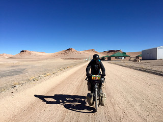 Ripio au poste frontière argentin