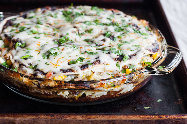 How to make your favorite enchiladas recipe into enchilada PIE!