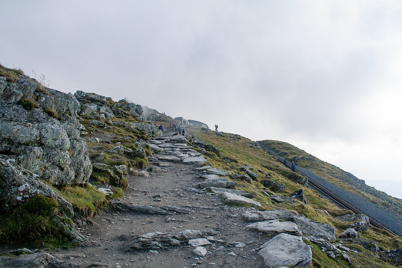 Heading towards the summit of Snowdon
