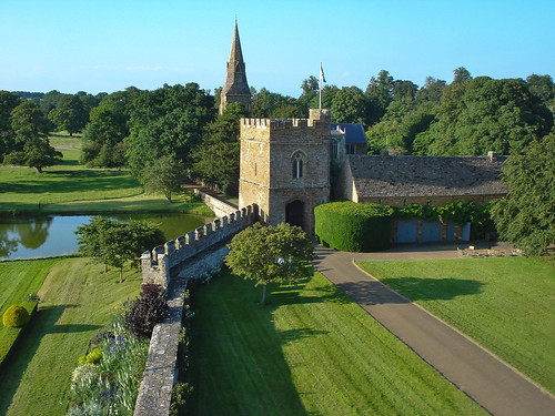 Gatehouse & Church from Broughton Castle Roof