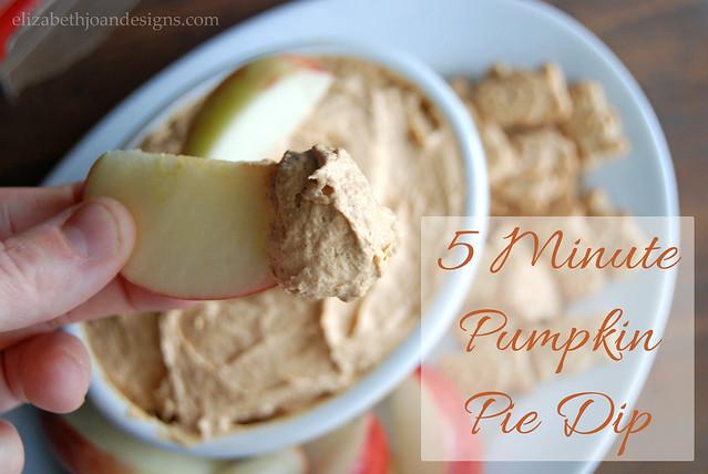 5 Minute Pumpkin Pie Dip