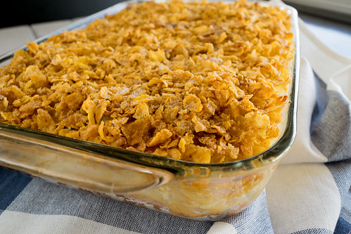 golden brown baked kugel