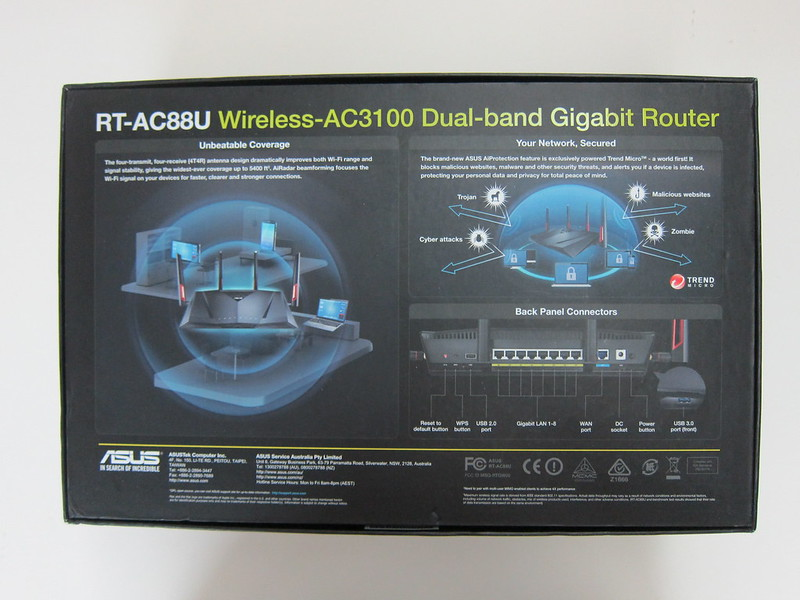 Asus RT-AC88U Router - Box Back