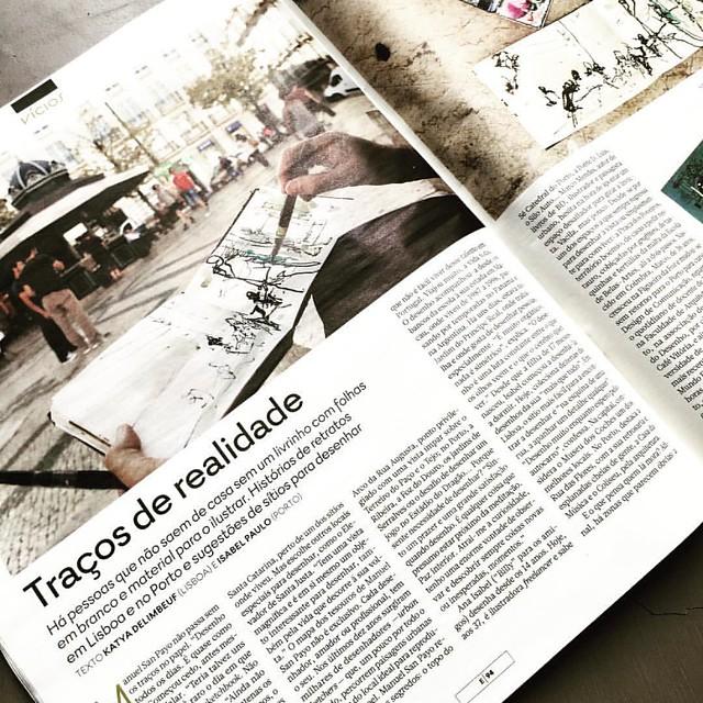 Hoje na revista do @jornalexpresso, um roteiro de desenho em #Lisboa e #Porto. Obrigada à Katya Delimbeuf!