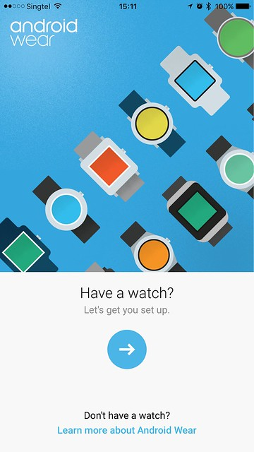 Android Wear iOS - Welcome