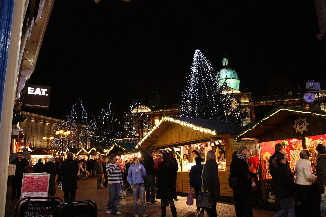 Frankfurt Christmas Market in Victoria Square, Birmingham, England. Credit Anneli Salo