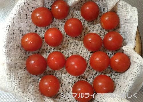 蒸し料理、トマト(調理前)