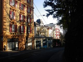 Medieval streetscape around the corner