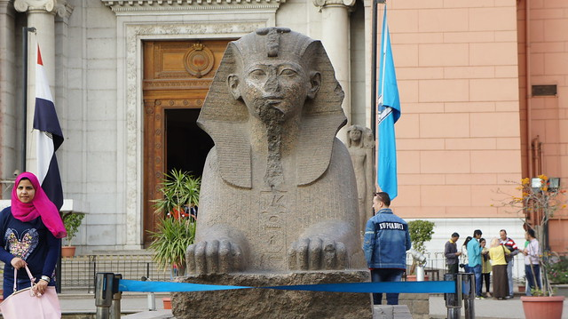 A Sphinx Outside the Egyptian Museum of Cairo