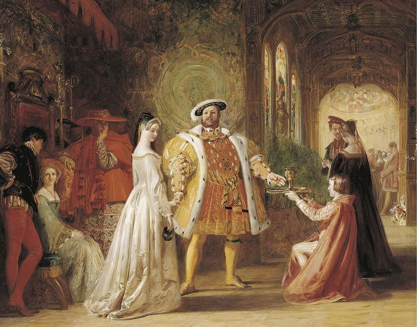 Henry VIII's First Interview with Anne Boleyn by Daniel Maclise, R.A. - 1835