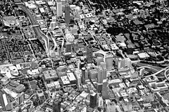 Aerial view of downtown Atlanta, Georgia, USA